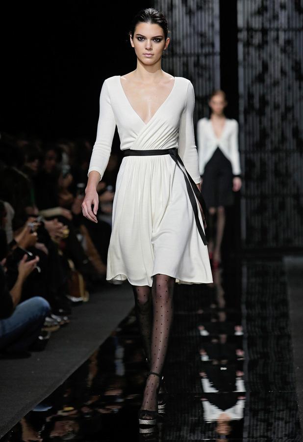 Kendall Jenner at Diane Von Furstenberg show in New York Fashion Week on 15 February 2015