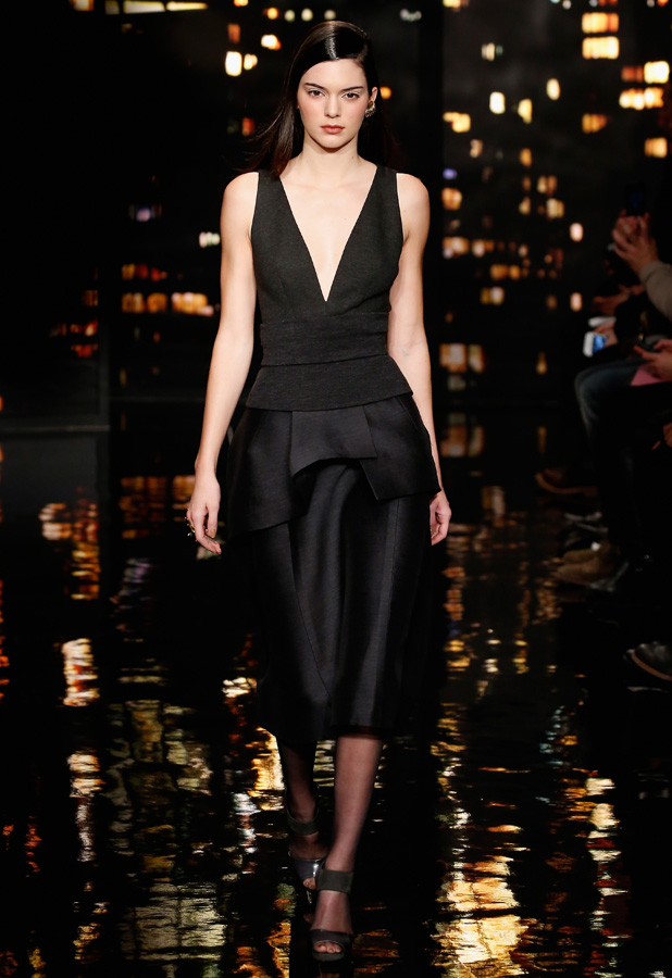 Kendall Jenner at Donna Karan show in New York Fashion Week on 16 February 2015