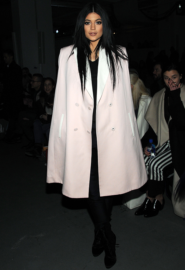 Kylie Jenner attends 3.1 Phillip Lim fashion show during Mercedes-Benz Fashion Week Fall 2015 at Skylight Clarkson SQ. on February 16, 2015 in New York City.