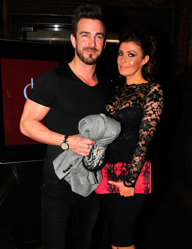 Kym Marsh and Dan Hooper out and about, Manchester, Britain - 14 Feb 2015