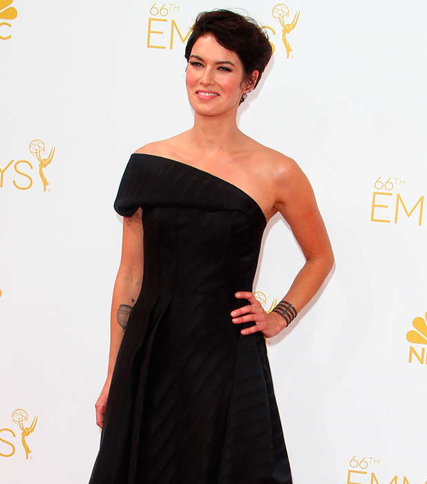 Lena Headey, 66th Primetime Emmy Awards at Nokia Theatre L.A. Live - Arrivals, 2014