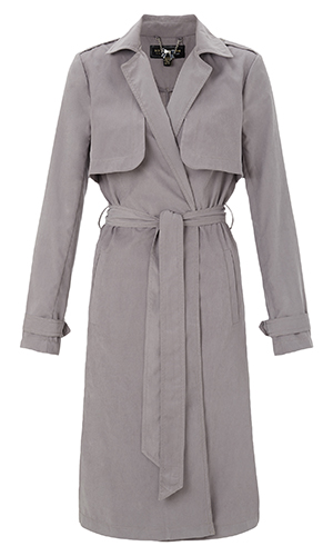 Cutout of grey Lipsy mac coat Michelle Keegan wore