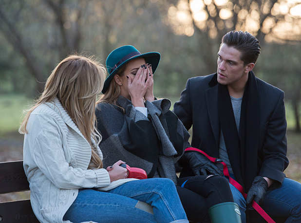 The Only Way is Essex' cast filming, Billericay, Essex, Britain - 18 Feb 2015 Georgia Kousoulou, Lydia Bright and Lewis Bloor