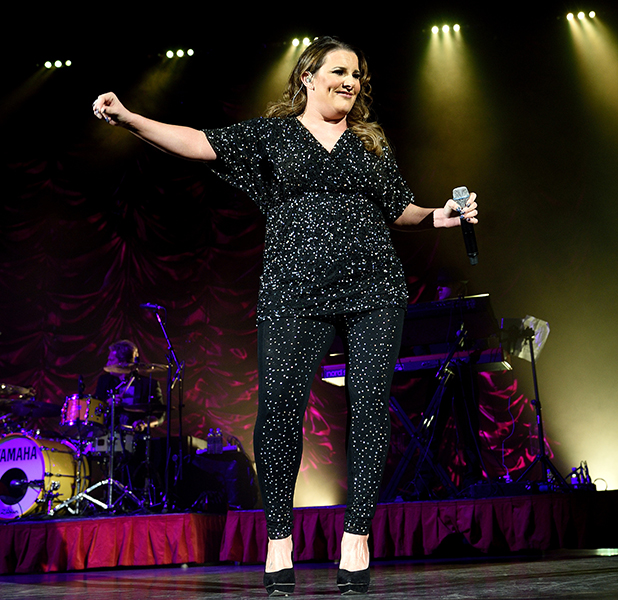 Sam Bailey performs on stage at Eventim Apollo on February 18, 2015 in London, United Kingdom.
