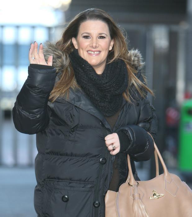Sam Bailey outside the ITV Studios, 18 February 2015