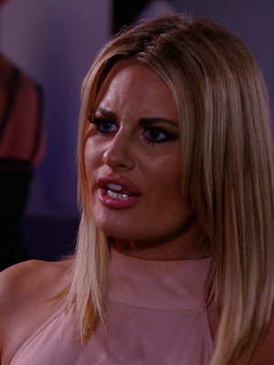 TOWIE series 14, episode 1: Danielle cries while talking to Lydia. Publicity still. To air 22 February.