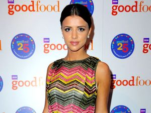 Lucy Mecklenburgh nails sophisticated chic in printed midi dress