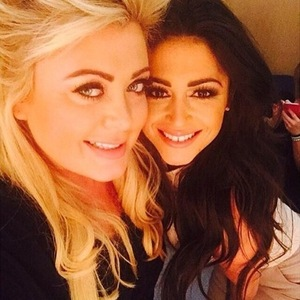 Casey Batchelor and Gemma Collins backstage at TOWIE: All Back To Essex, ITVBe 22 February