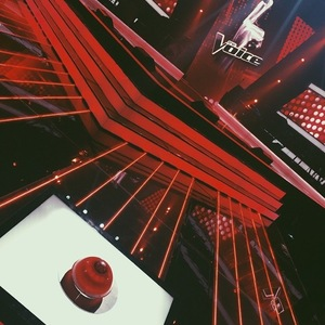 Jessie J shares a photo on set of The Voice Australia, Australia 24 February