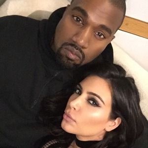 Kim Kardashian and Kanye West take selfies after the Brit Awards, Instagram 25 February