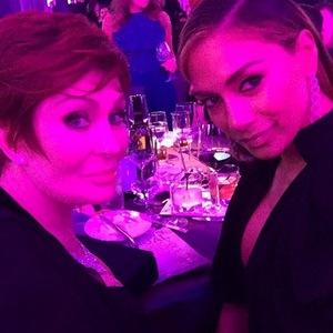 Nicole Scherzinger reunites with X Factor co-star Sharon Osbourne at Oscars party, Hollywood, LA 24 February