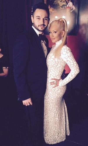 Christina Aguilera and fiance Matthew Rutler at Vanity Fair Oscar party - 23 February 2015.