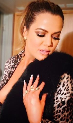 Khloe Kardashian's second Oscar beauty look by Joyce Bonelli, 22/2/15