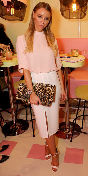 Lauren Pope attends 'Curl's Best Friend' Pop-Up Curl And Cocktail Parlour By Benefit Cosmetics, London 26 February