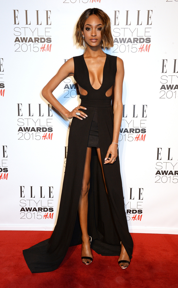 Jourdan Dunn opts for sexy cut out dress at the Elle Style Awards last night (24 February)