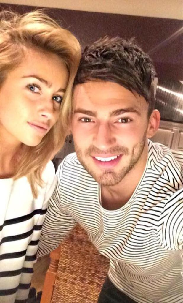 Jake Quickenden shares happy selfie with Carl Fogarty's daughter Danielle - 26 February 2015.
