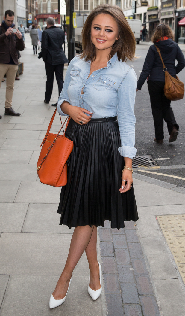 Inbetweeners star Emily Atack debuts brunette bob at London Fashion Week, London 24 February