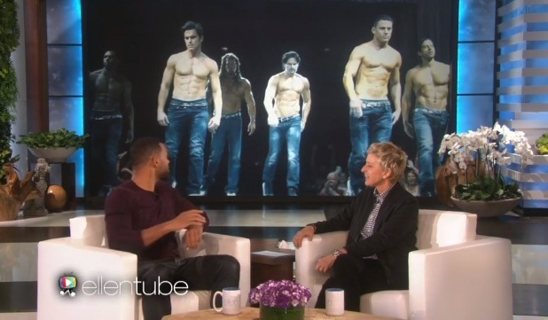 Will Smith talks about his wife starring on Magic Mike, The Ellen DeGeneres Show, LA 22 February