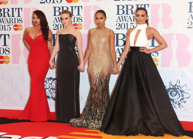 Little Mix at The Brit Awards 2015 (Brits) held at the O2 - Arrivals - 02/25/2015.