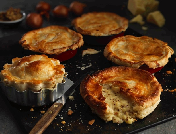 Mustard and cheese pies