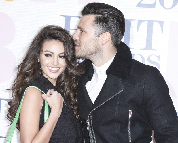 Mark Wright and Michelle Keegan at The Brit Awards 2015 (Brits) held at the O2 - Arrivals 02/25/2015