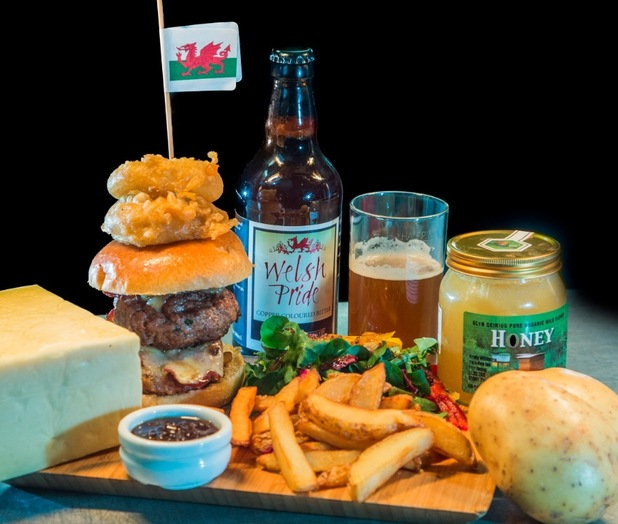 Pontfadog Oak Burger by Max Payne at Cygnets in Pontfadog