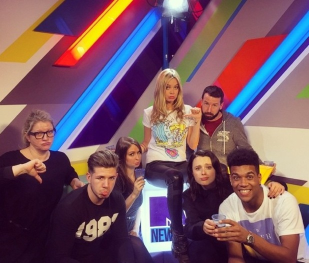 Laura Whitmore records final show of MTV News, MTV studios, Camden 26 February