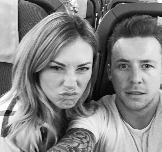 McBusted star Danny Jones and wife Georgia take selfie on way home from Australia, Instagram 25 February