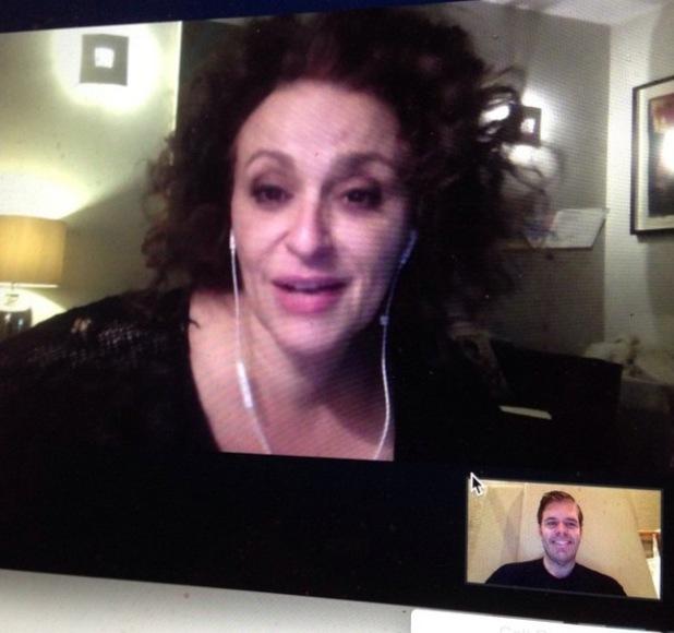 CBB's Perez Hilton Skype's with Nadia Sawalha - 23 February 2015.