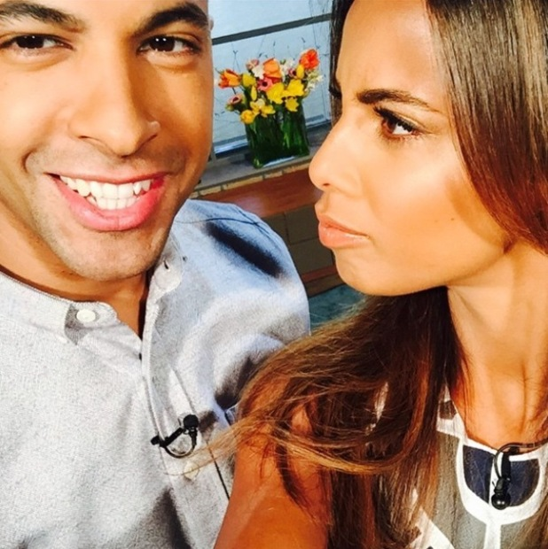 Rochelle and Marvin Humes host ITV's This Morning - 27 February 2015.