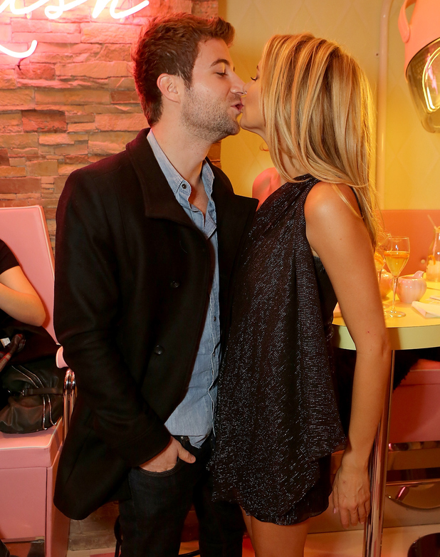 Stephanie Pratt and Josh Shepherd attend 'Curl's Best Friend' Pop-Up Curl And Cocktail Parlour By Benefit Cosmetics, London 26 February