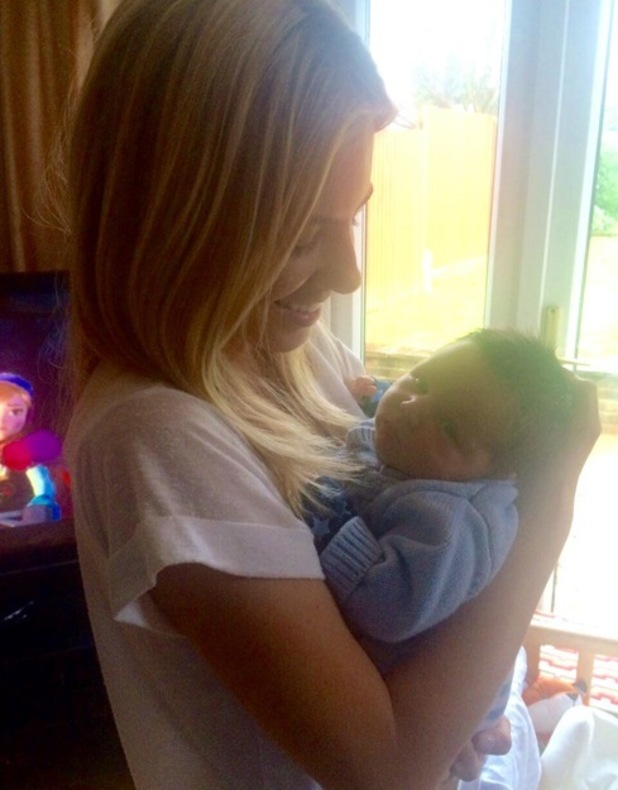Mollie King shares photo of Una Foden's newborn son Tadgh, Instagram 27 February