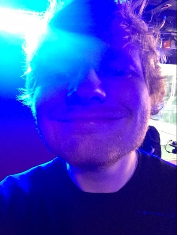Taylor Swift tweets funny snap of best pal Ed Sheeran during that Radio 1 Breakfast Show this morning (24 February)