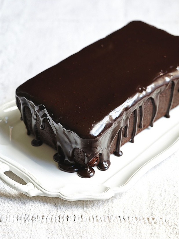 Sticky Chocolate Loaf cake from Lisa Faulkner's book Tea & Cake