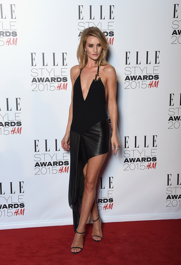 Rosie Huntington-Whiteley opts for very revealing dress at the Elle Style Awards last night (24 February)