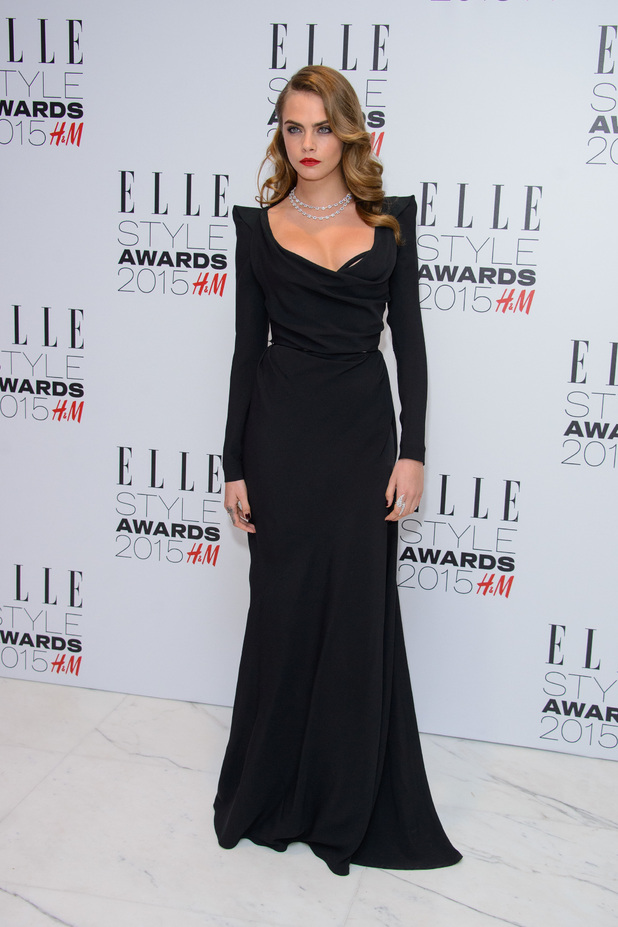 Cara Delevingne oozes old-school glamour at the Elle Style Awards last night (24 February)