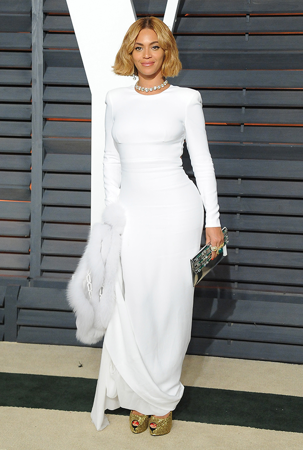 Beyonce attends the 2015 Vanity Fair Oscar Party hosted by Graydon Carter at Wallis Annenberg Center for the Performing Arts on February 22, 2015 in Beverly Hills, California. (Photo by Jon Kopaloff/FilmMagic)