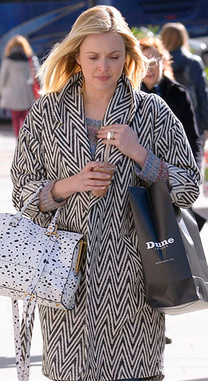 Fearne Cotton seen out in London as she announces pregnancy, 27 February 2015