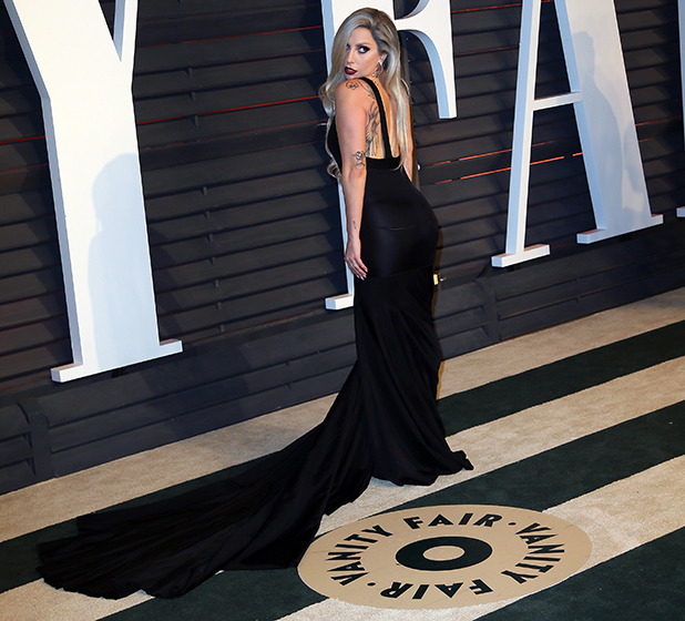 Lady Gaga attends the 2015 Vanity Fair Oscar Party hosted by Graydon Carter at the Wallis Annenberg Center for the Performing Arts on February 22, 2015 in Beverly Hills, California. (Photo by David Livingston/Getty Images)
