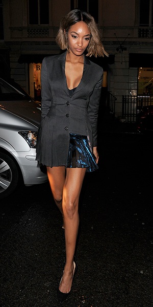 Jourdan Dunn at Mr Chow restaurant in Knightsbridge, London, 22 February 2015