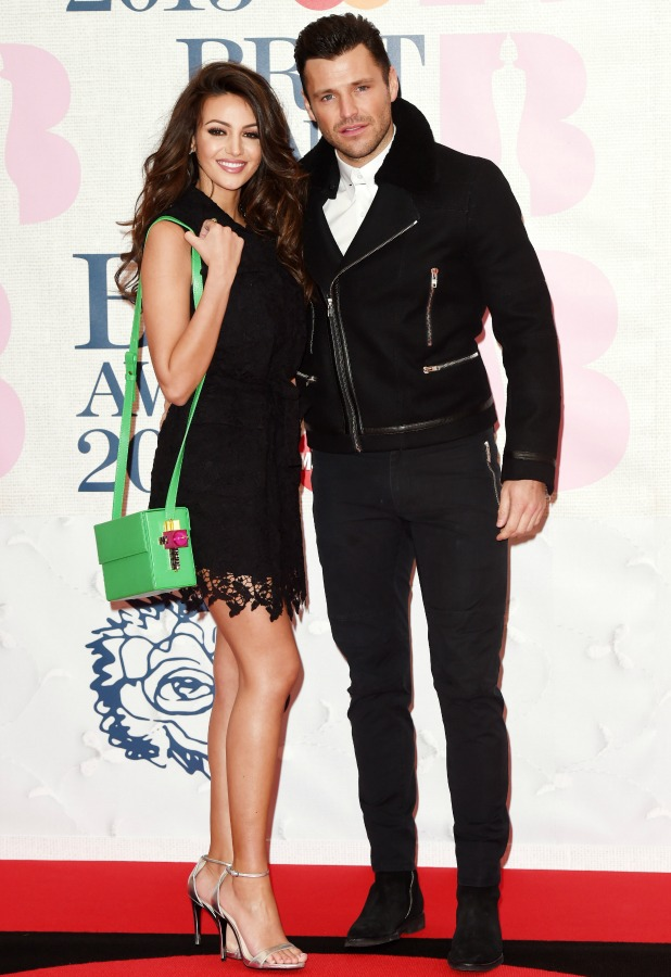The Brit Awards, Arrivals, O2 Arena, London, Britain - 25 Feb 2015 Michelle Keegan and Mark Wright