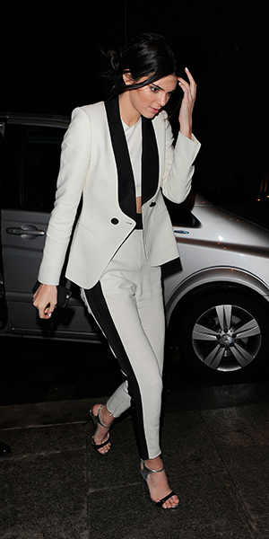 Kendall Jenner at Mr Chow restaurant in Knightsbridge, London, 22 February 2015