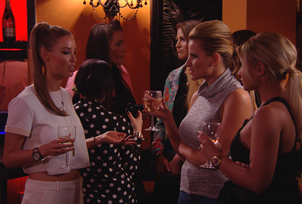 TOWIE publicity still for 25 February 2015 episode: Lauren, Georgia and Billie
