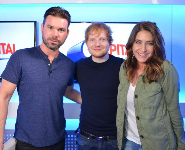 Ed Sheeran with Lisa Snowdon and Dave Berry on Capital FM Breakfast, 24 February 2015