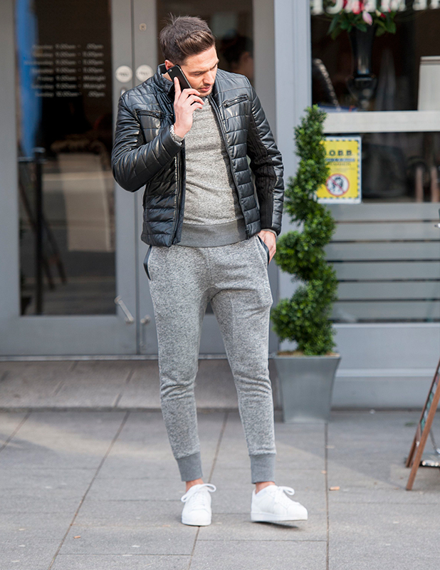 'The Only Way is Essex' cast filming, Brentwood, Britain - 23 Feb 2015 Mario Falcone calls Ricky