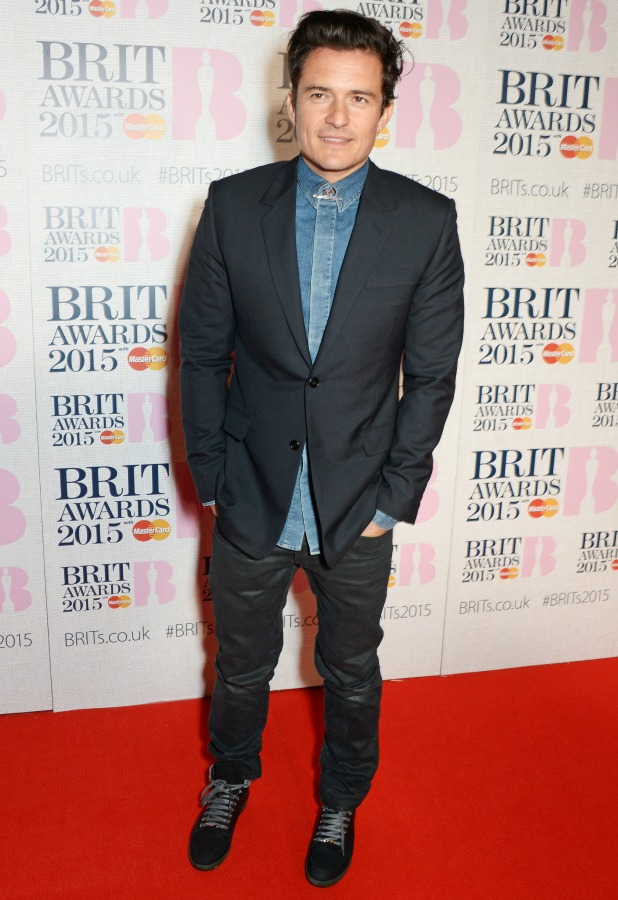 The Brit Awards, Arrivals, O2 Arena, London, Britain - 25 Feb 2015 Orlando Bloom