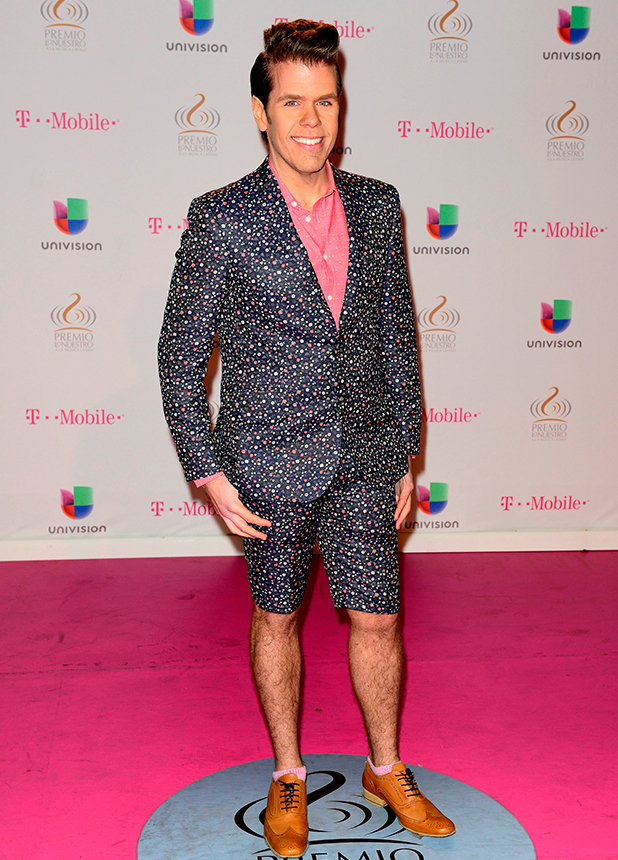 Perez Hilton at 2015 Premio Lo Nuestro Awards at the American Airlines Arena, honoring excellence in Latin music, 21 February 2015