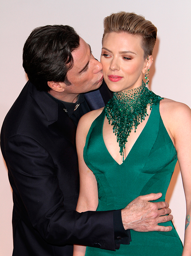 Scarlett Johansson and John Travolta, The 87th Annual Oscars held at Dolby Theatre - Red Carpet Arrivals, 22 February 2015