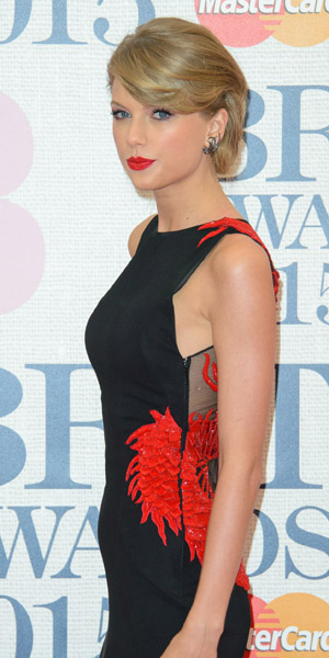 Taylor Swift at BRIT Awards on 25 February 2015