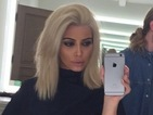 Kim Kardashian reveals inspiration for THAT new platinum blonde hair 'do